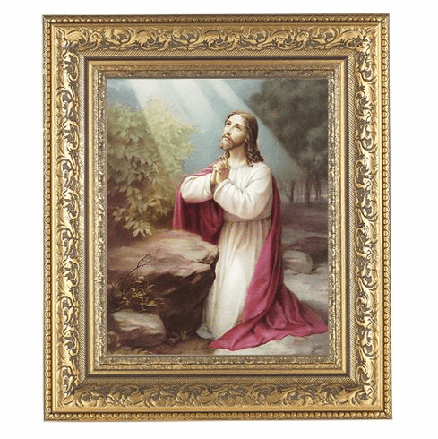 Hirten Christ on Mount Olives Ornate Gold Leaf Framed Picture