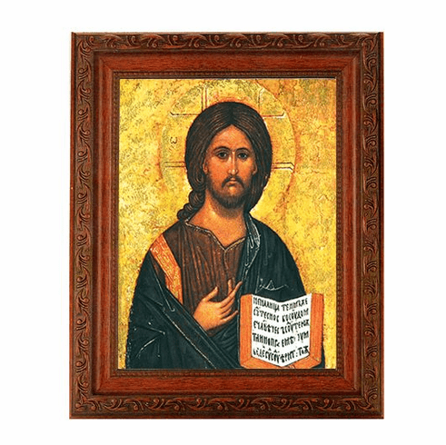 Hirten Christ the Teacher All Knowing Ornate Mahogany Framed Picture