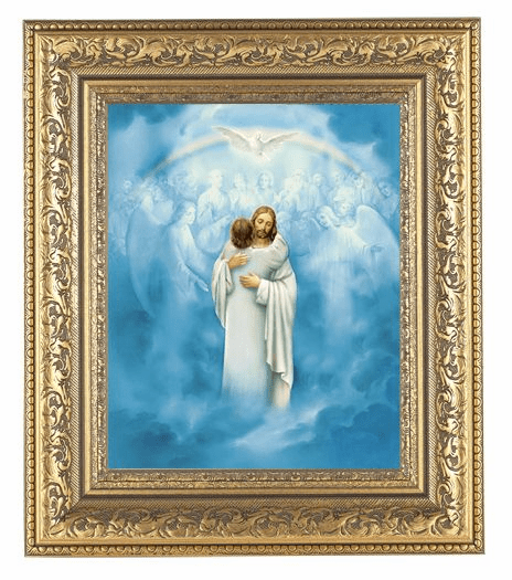 Hirten Christ Welcoming Home Ornate Gold Leaf Framed Picture