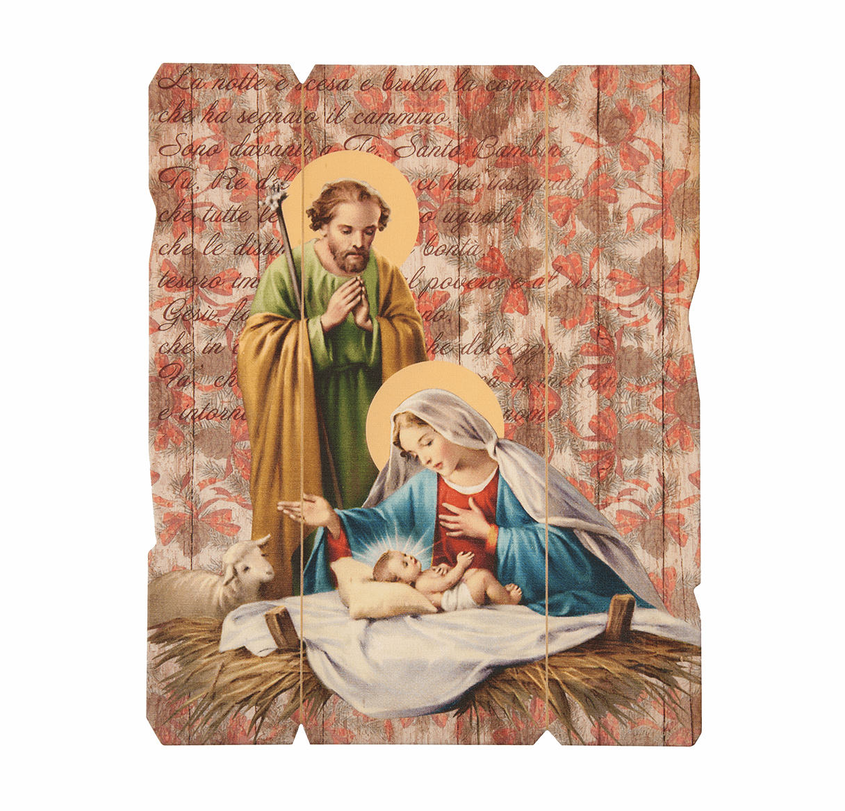 Hirten Christmas Holy Family Nativity Vintage Wall Plaque