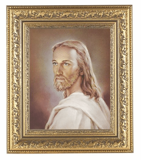 Hirten Head Of Christ Detailed Ornate Gold Leaf Antique Framed Picture