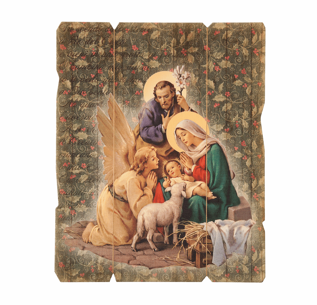 Hirten Holy Family Christmas Nativity Vintage Wall Plaque