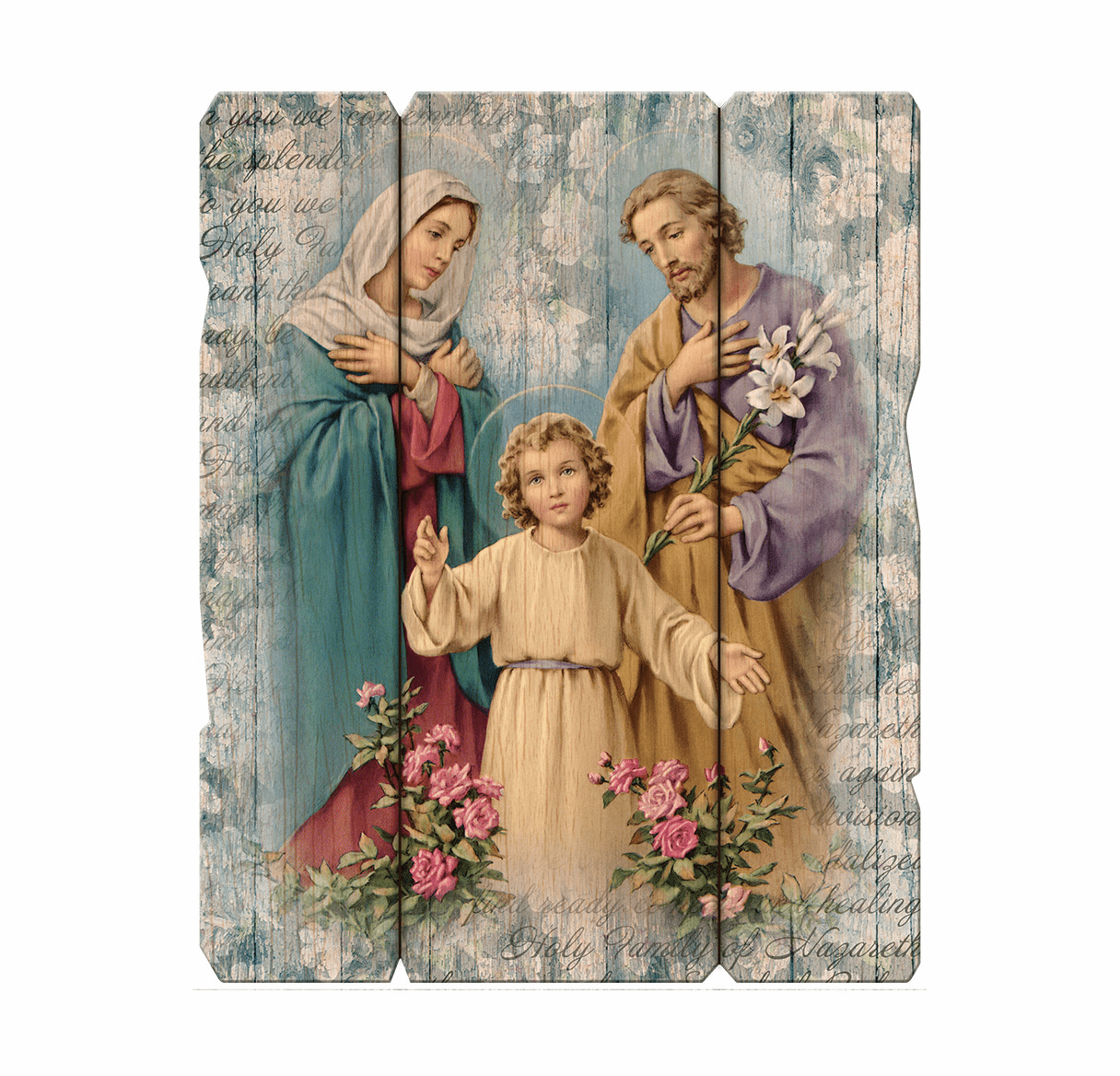 Hirten Holy Family Vintage Wooden Wall Plaque