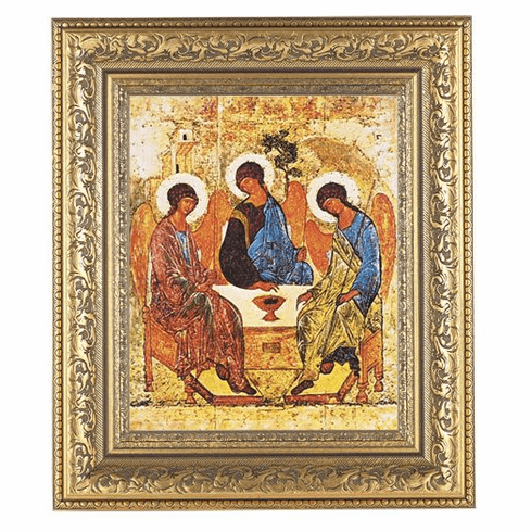 Hirten Holy Trinity Ornate Gold Leaf Framed Picture