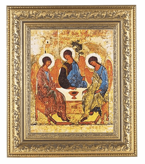 Hirten Holy Trinity Detailed Ornate Gold Leaf Antique Framed Picture