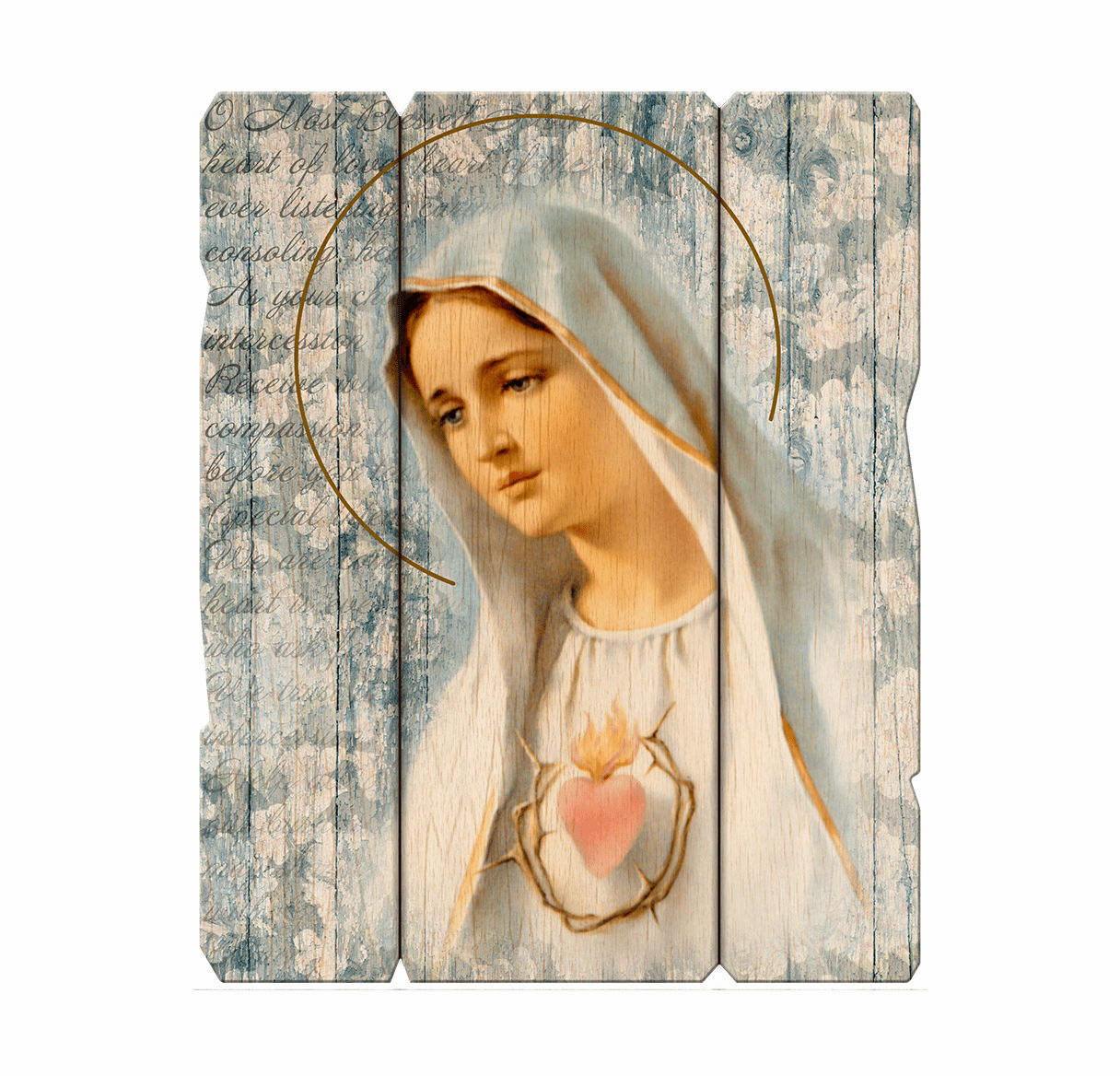 Hirten Immaculate Heart Of Mary Vintage Wall Plaque