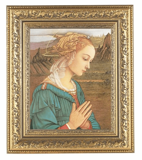 Hirten Lippi Madonna Detailed Ornate Gold Leaf Antique Framed Picture