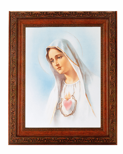 Hirten Mahogany Finished Framed Religious Picture