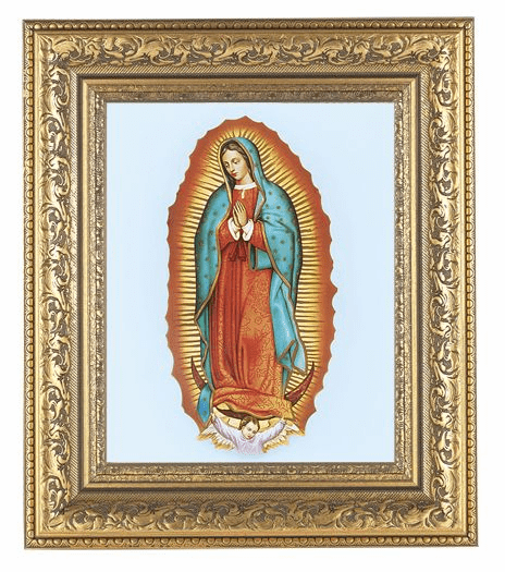 Hirten Our Lady of Guadalupe Detailed Ornate Gold Leaf Antique Framed Picture