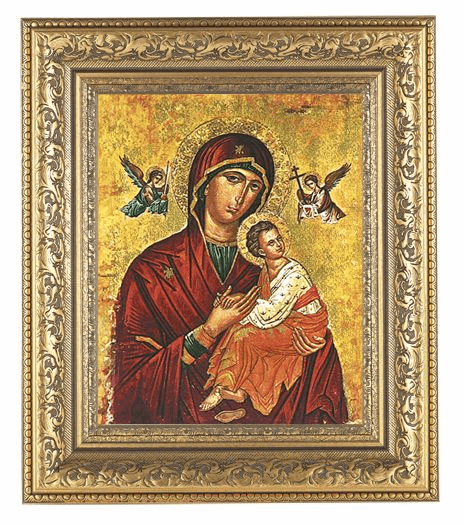 Hirten Our Lady of Passion Ornate Gold Leaf Framed Picture