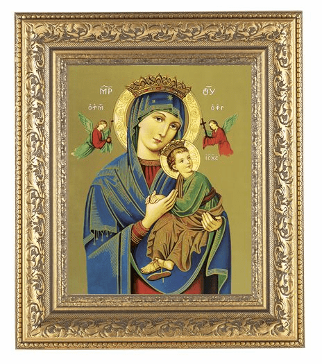 Hirten Our Lady of Perpetual Help Ornate Gold Leaf Framed Picture