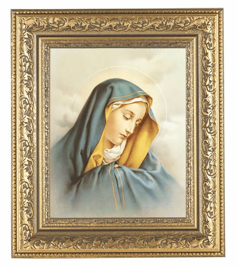 Hirten Our Lady of Sorrows Ornate Gold Leaf Framed Picture