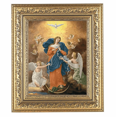 Hirten Our Lady Untier of Knots Ornate Gold Leaf Framed Picture
