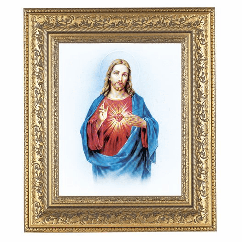 Hirten Sacred Heart of Jesus Ornate Gold Leaf Framed Picture