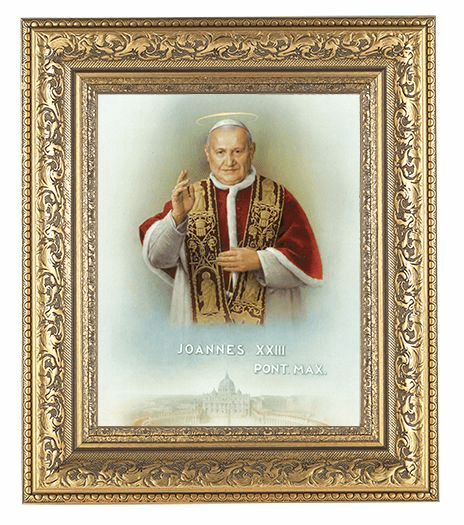 Hirten Saint John XXIII Ornate Gold Leaf Framed Picture