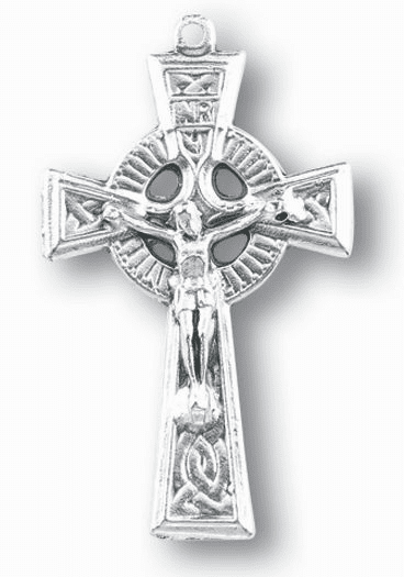 Hirten Silver OX Irish Celtic Crucifix Rosary Making Parts