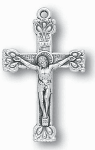 Hirten Silver OX Ornate Crucifix Rosary Making Parts