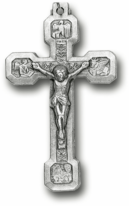 Hirten Silver OX Via Crucis Crucifix Rosary Making Parts