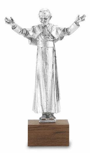 Hirten Silver-Plated Blessed John Paul II Statue with Base