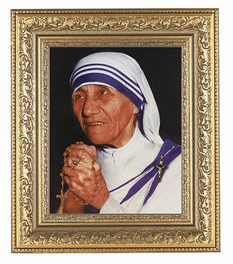 Hirten St Teresa of Calcutta Detailed Ornate Gold Leaf Antique Framed Picture