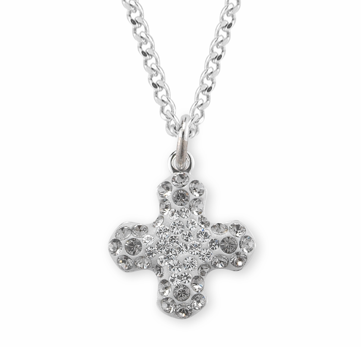 HMH Religious Black Diamond Swarovski Pave Greek Cross Pendant