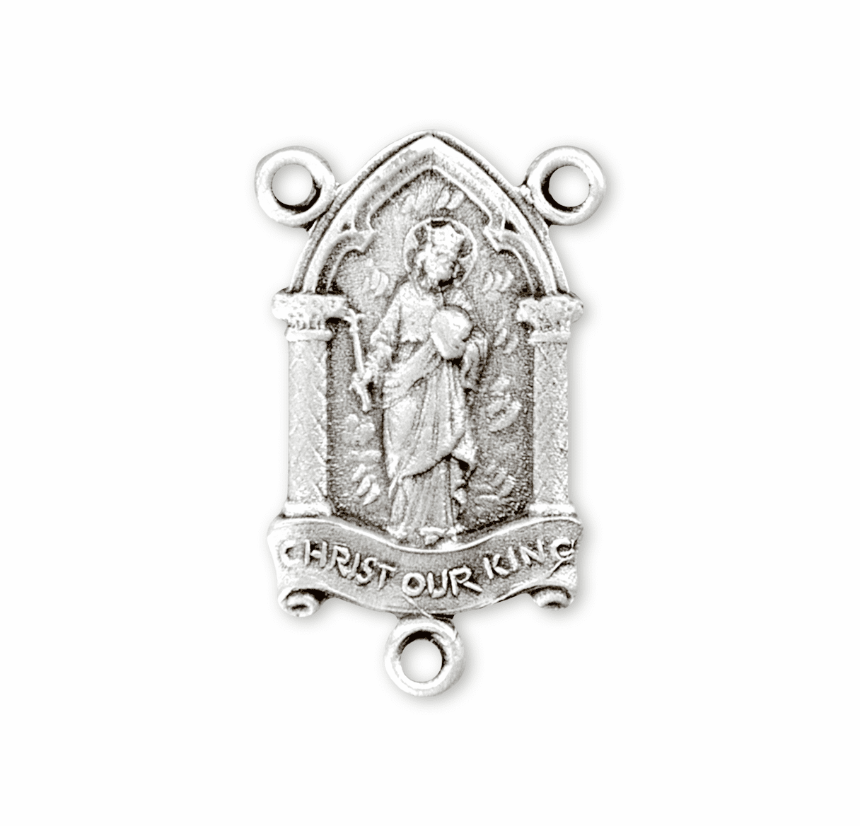 HMH Religious Christ Our King Sterling Silver Rosary Center