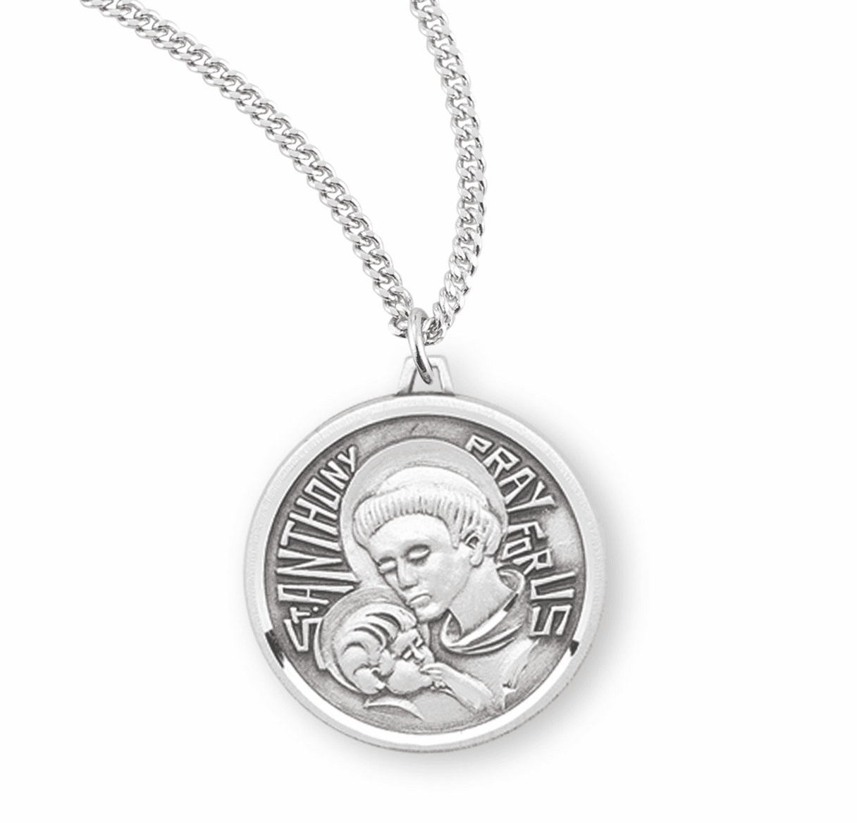 HMH Religious Contemporary Saint Anthony Pendant Necklace w/Chain