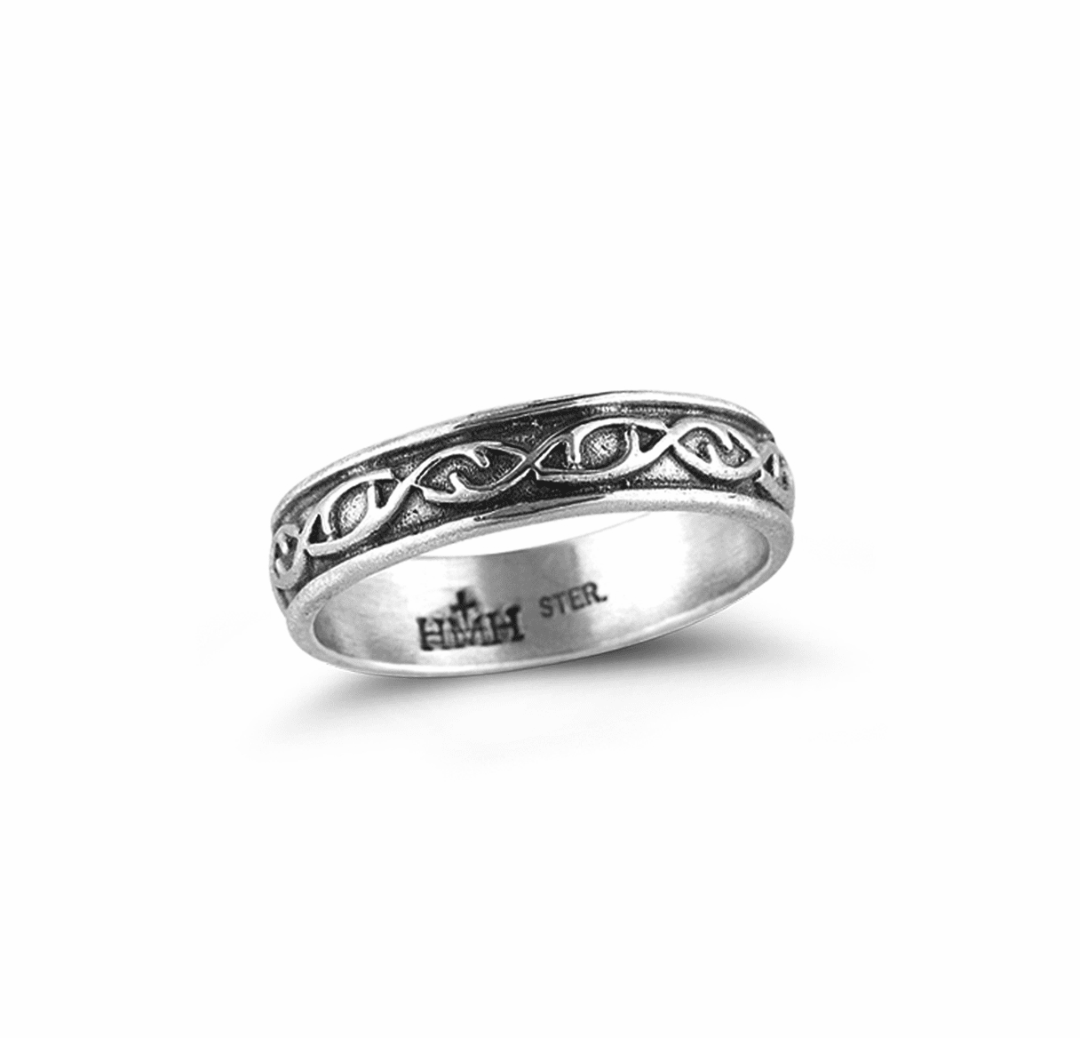 HMH Religious Crown of Thorns Sterling Silver Ring