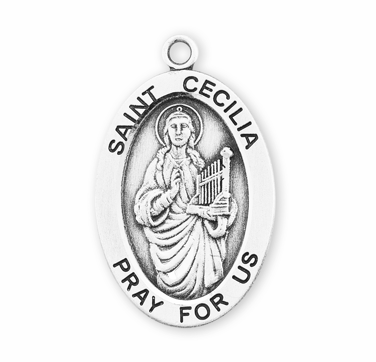 HMH Religious Female Saint Medium Oval Medals