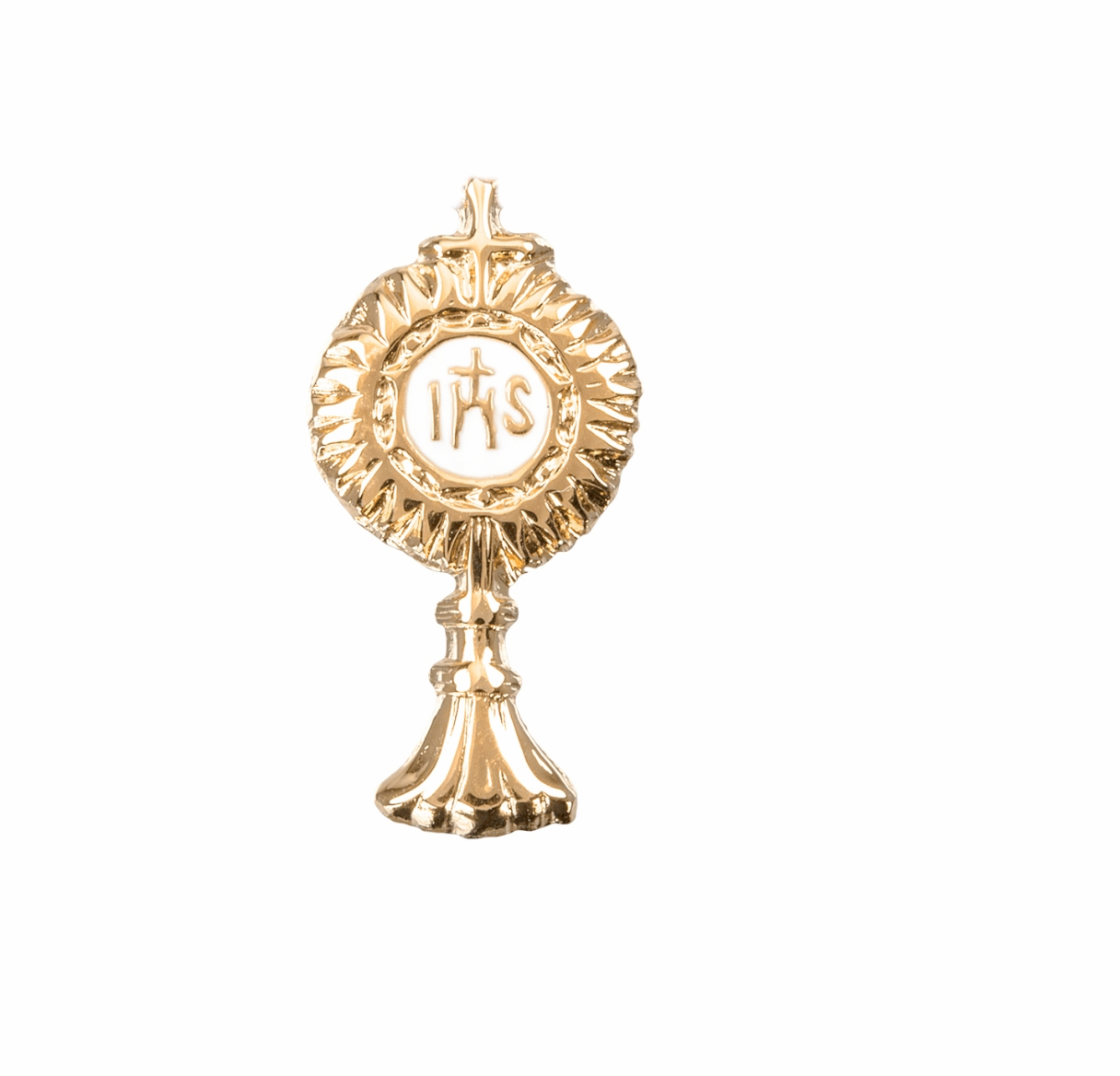 HMH Religious Gold Over Sterling Silver Monstrance Lapel Pin