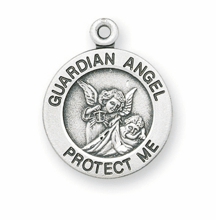 HMH Religious Guardian Angel Sterling Necklace w/Chain