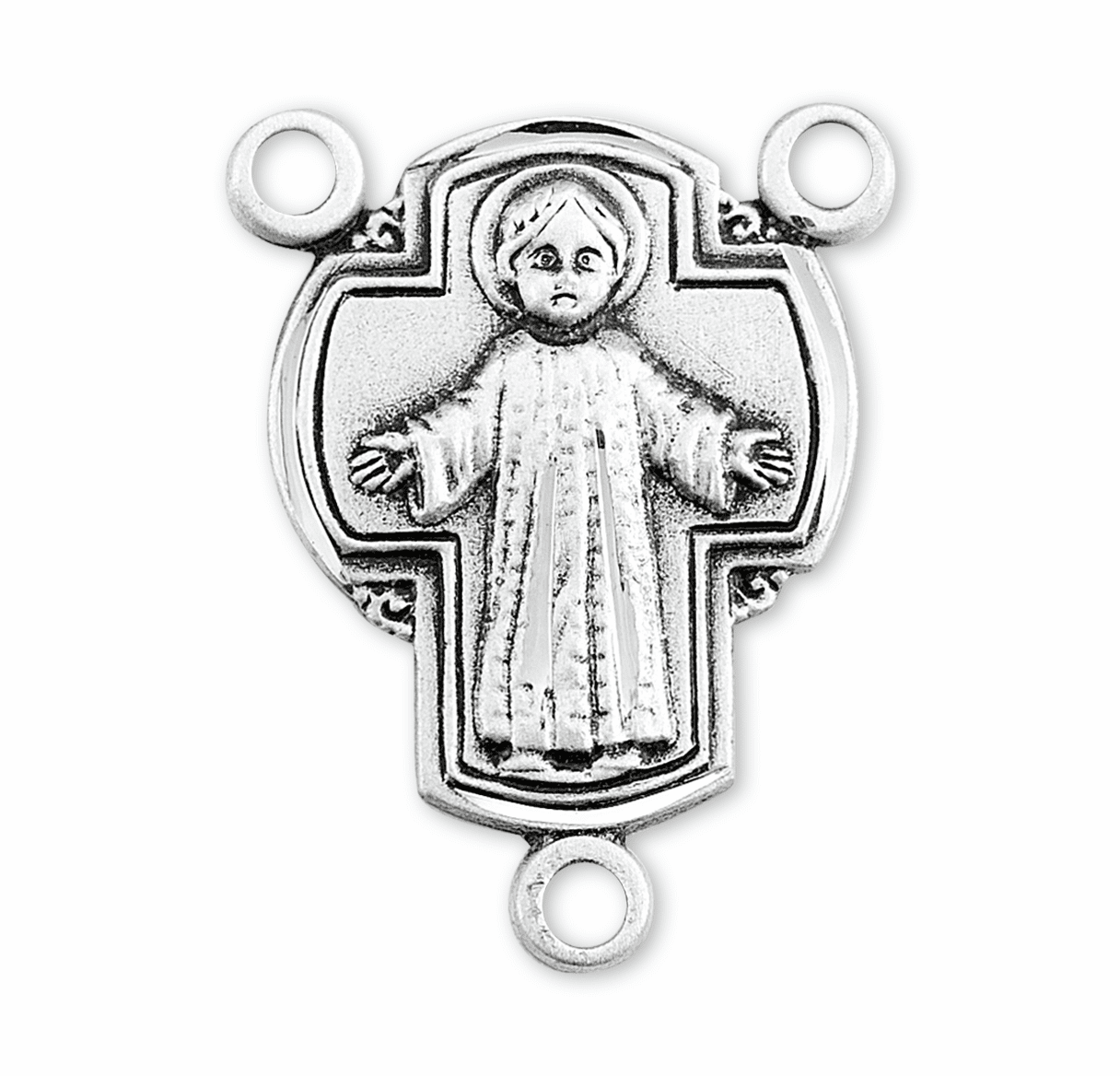 HMH Religious Infant Jesus Sterling Silver Rosary Center