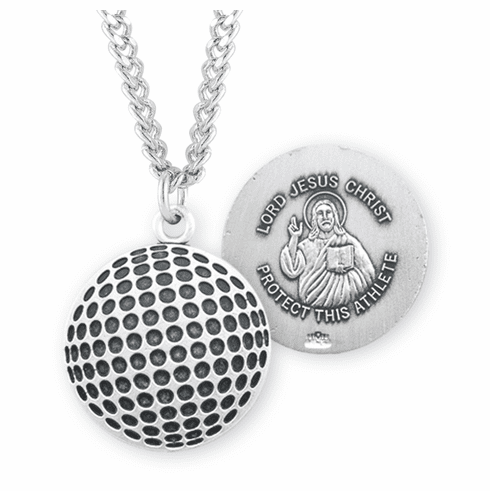 HMH Religious Jesus Christ Golf Ball Sports Medal