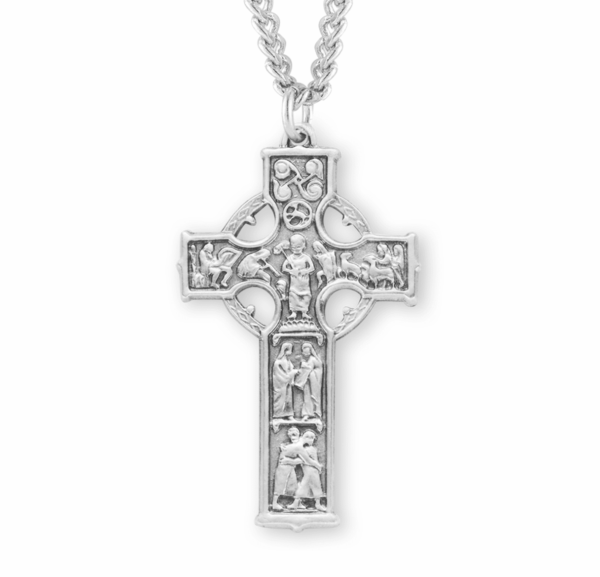 HMH Religious Large Sterling Celtic Cross Necklace