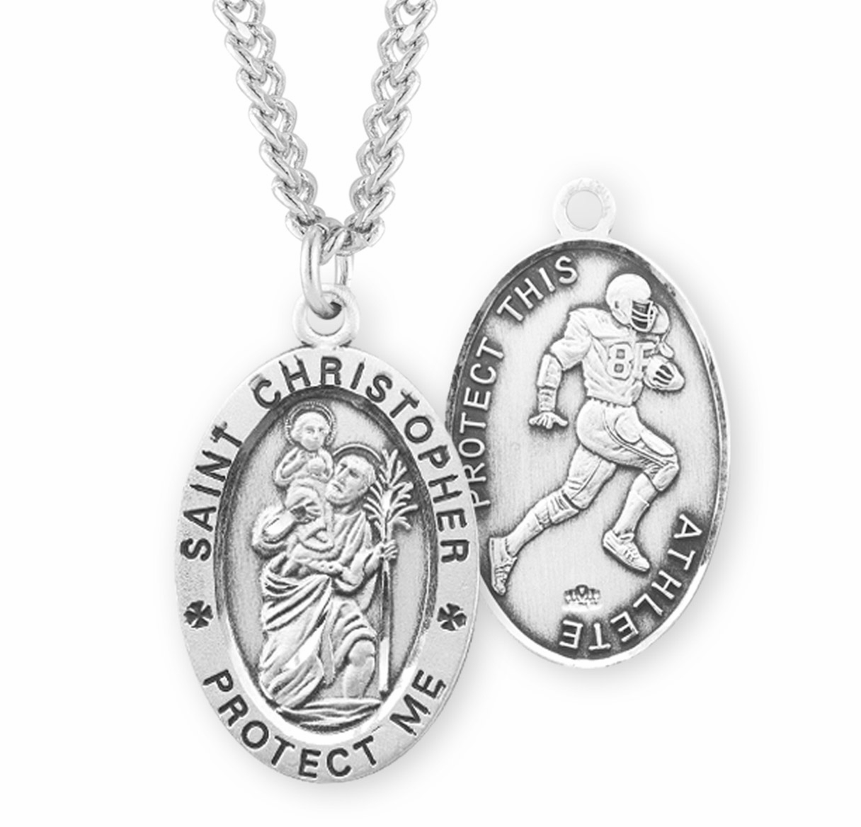 HMH Religious Male Oval Athlete Sports Jewelry