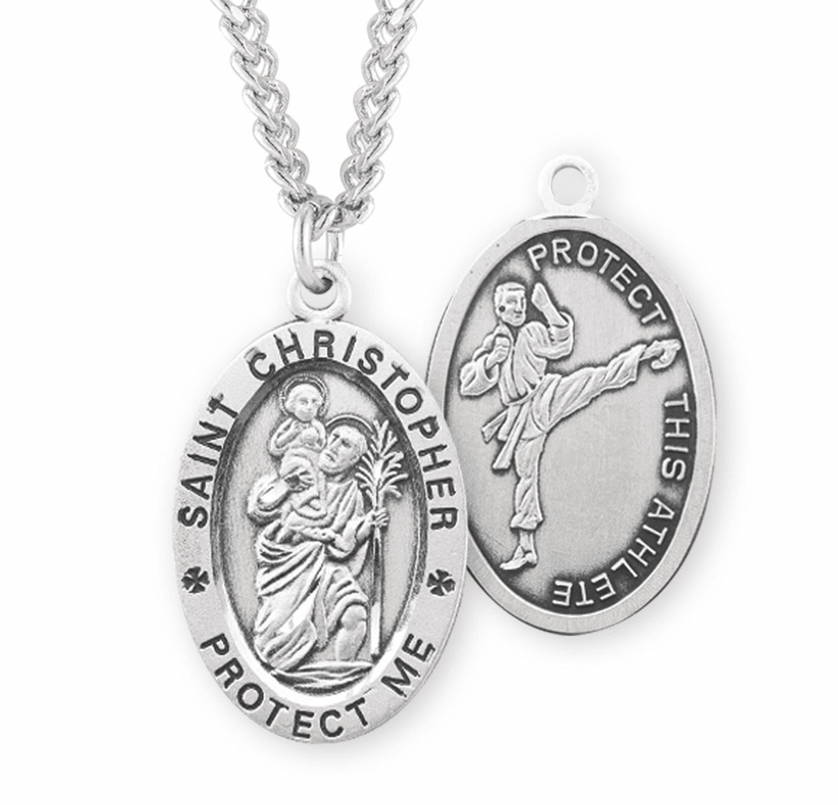 HMH Religious Martial Arts St Christopher Sports Necklace