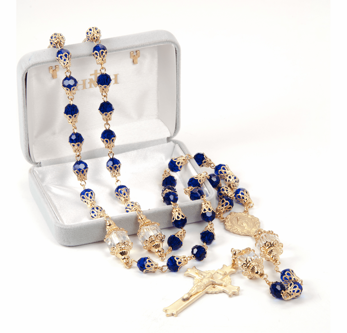 HMH Religious Mary Blue Tear Drop Catholic Prayer Rosary