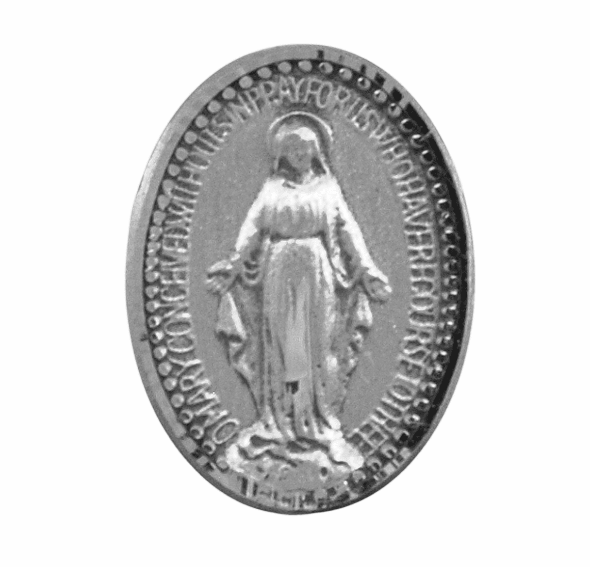 HMH Religious Miraculous Medal Lapel Pin w/Deluxe Screw