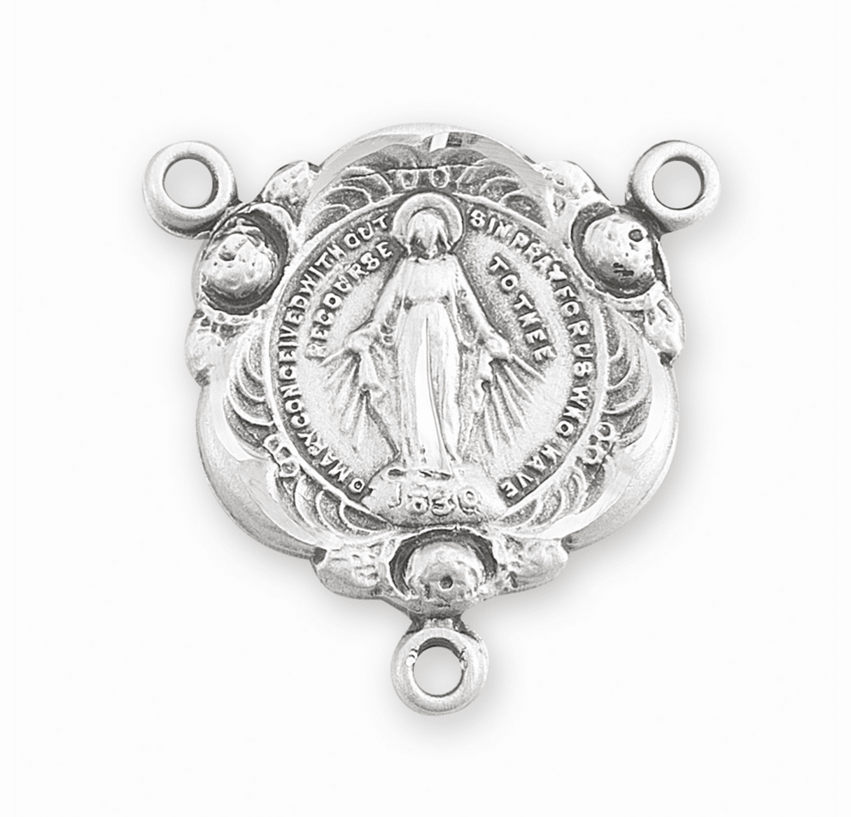 HMH Religious Miraculous Medal Sterling Silver Rosary Center