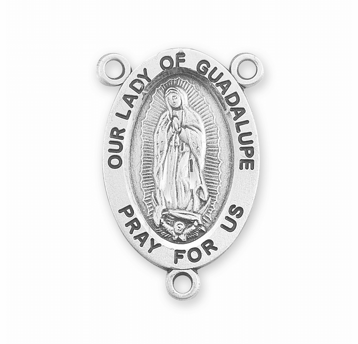 HMH Religious Our Lady of Guadalupe Sterling Silver Rosary Center