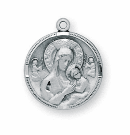 HMH Religious Our Lady of Perpetual Help Sterling Necklace
