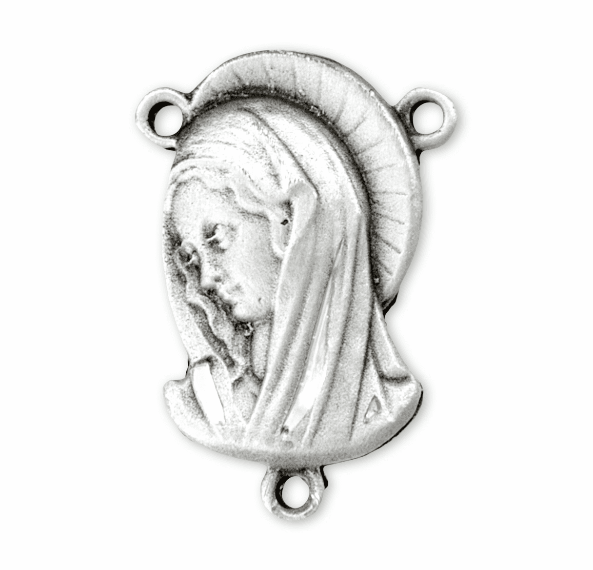 HMH Religious Our Lady of Sorrows Sterling Silver Rosary Center