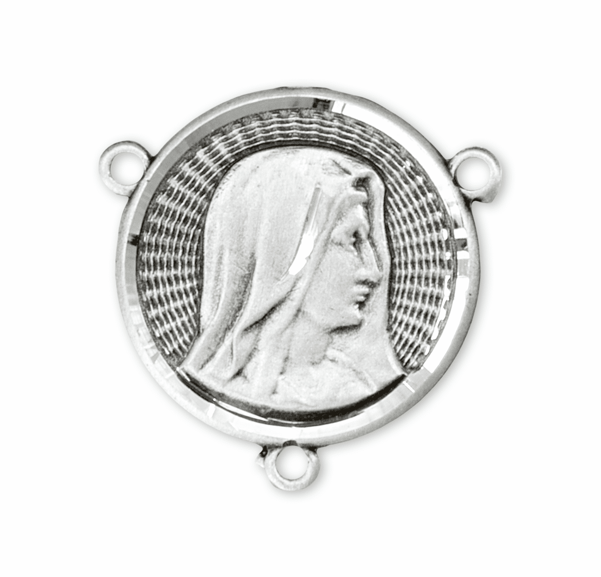 HMH Religious Round Our Lady of Sorrows Sterling Silver Rosary Center