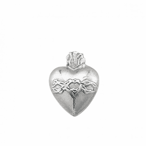 HMH Religious Sacred Heart of Jesus Sterling Silver Lapel Pin w/Deluxe Screw