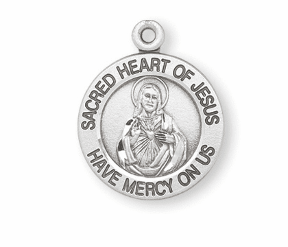 HMH Religious Sacred Heart of Jesus Sterling Silver Pendant Necklace