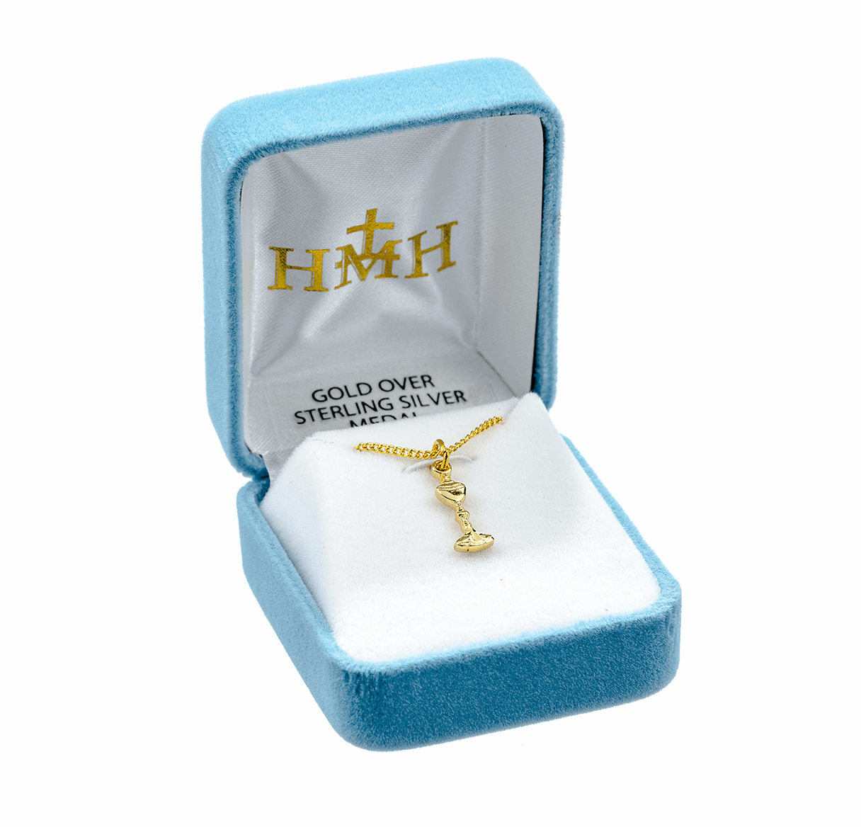HMH Religious Small Gold First Holy Communion Chalice Medal Necklace