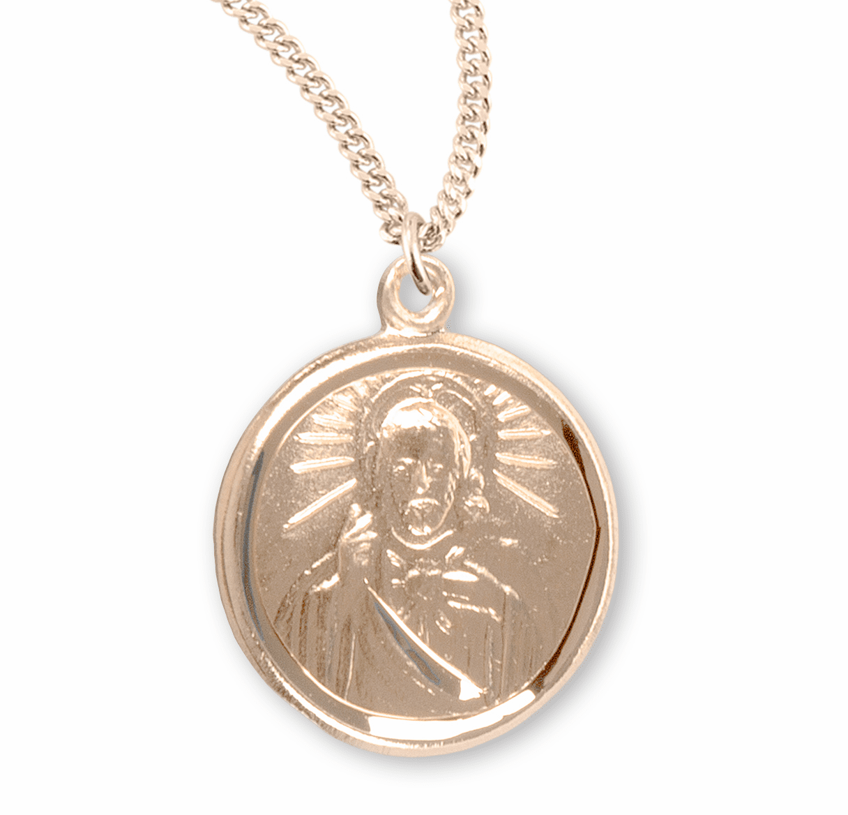 HMH Religious Small Round Scapular Medal Necklace