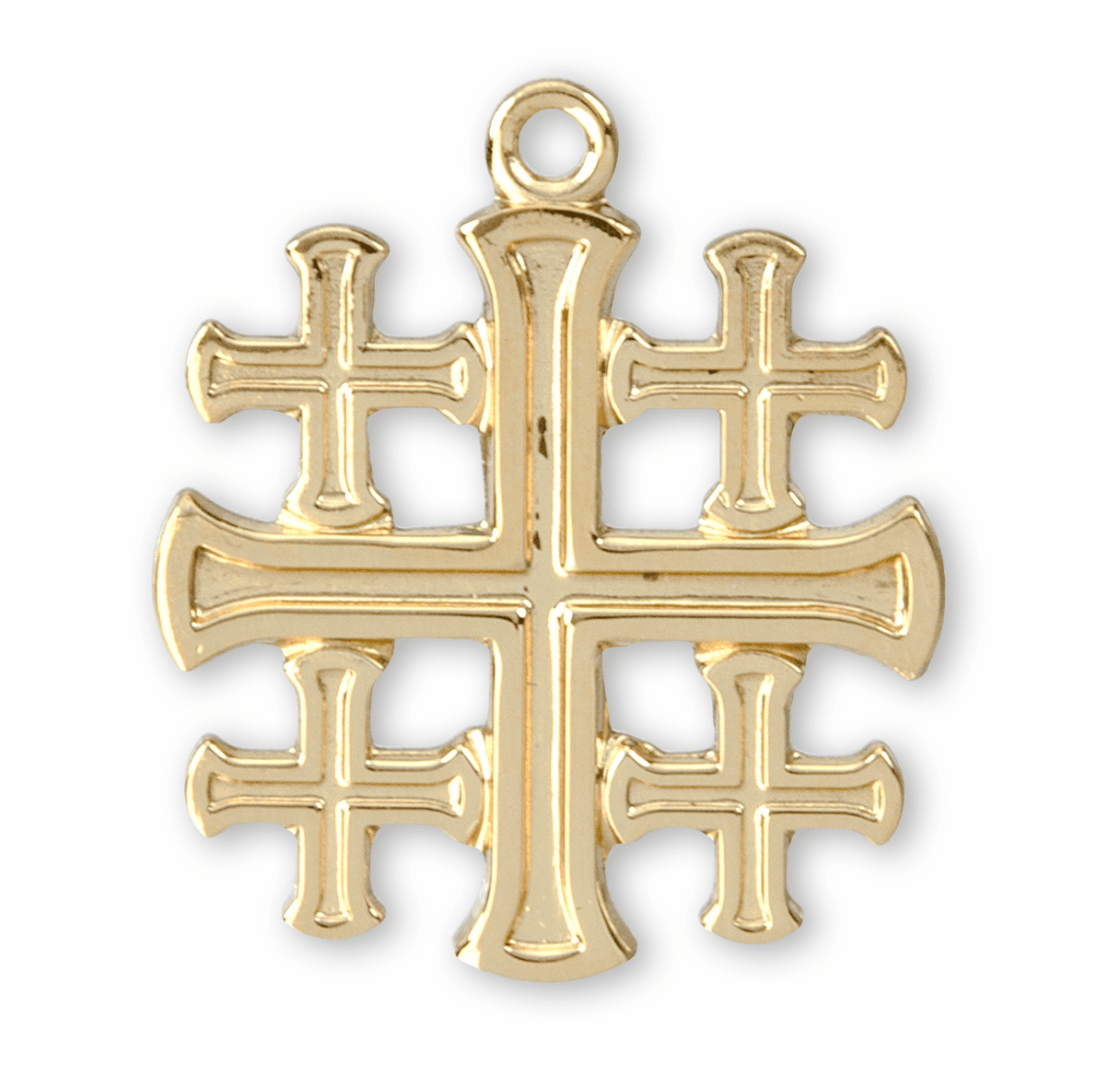HMH Religious Solid 14kt Gold Crucifix, Cross and Pendant Jewelry