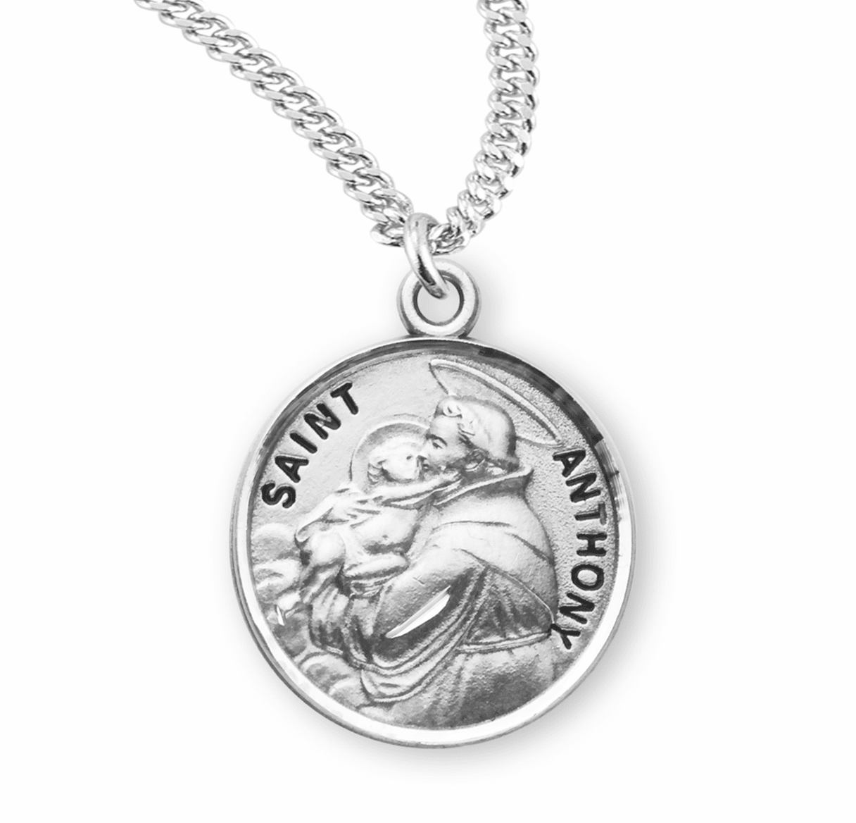 HMH Religious St Anthony of Padua Sterling Silver Patron Saint Necklace