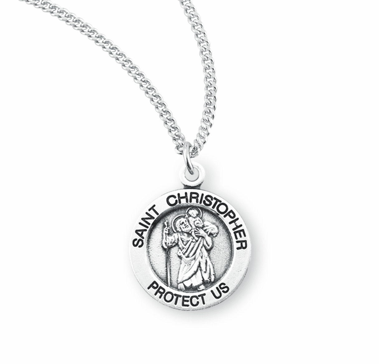 HMH Religious St Christopher Carrying the Child Jesus on His Shoulder Necklace